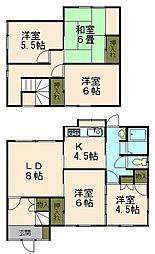 [一戸建] 北海道小樽市新光1丁目 の賃貸【北海道 / 小樽市】の間取り