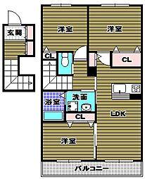 シャトードイワネ25[2階]の間取り