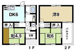 [一戸建] 奈良県生駒市小明町 の賃貸【奈良県 / 生駒市】の間取り