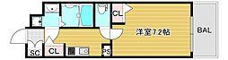 JR大阪環状線 弁天町駅 徒歩9分の賃貸マンション 9階1Kの間取り