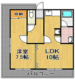 永田マンション2号館[5階]の間取り