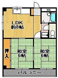 大森マンション[3階]の間取り