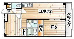 福岡県北九州市門司区社ノ木2丁目の賃貸マンションの間取り