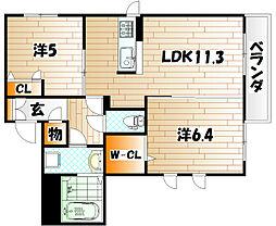 メゾンケイ A棟[2階]の間取り
