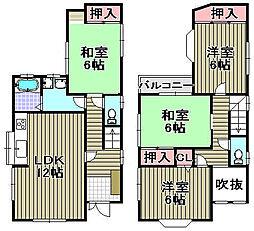 [一戸建] 大阪府泉南市中小路 の賃貸【/】の間取り
