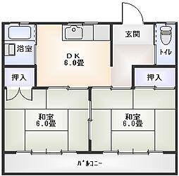 小川アパート[203号室]の間取り