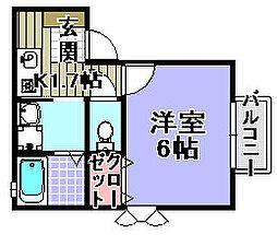 セジュールTanigami[201号室]の間取り