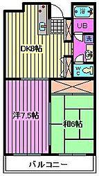 チコラース[2階]の間取り