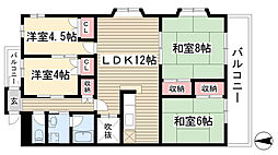 団ヤマテ[402号室]の間取り