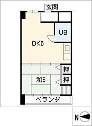 ラクール泉[4階]の間取り