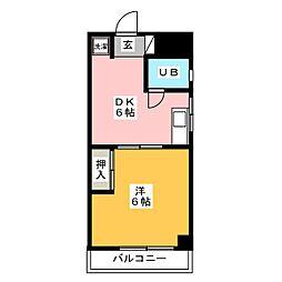 第1占部ビル[2階]の間取り