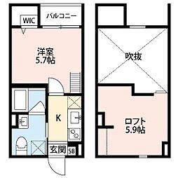 兵庫県神戸市長田区野田町9丁目の賃貸アパートの間取り