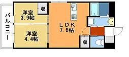 AKAMA77'sマンション[404号室]の間取り
