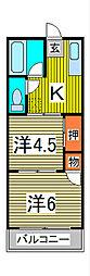 シャンテ飯塚[2階]の間取り