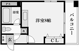 兵庫県西宮市名次町の賃貸マンションの間取り