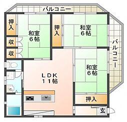 野崎邸[201号室]の間取り