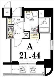 グリフィン横浜・桜木町十番館[7階]の間取り