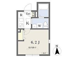 東京メトロ南北線 王子駅 徒歩7分の賃貸マンション 4階1Kの間取り