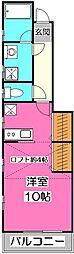 アメリカンリバティー所沢17[1階]の間取り