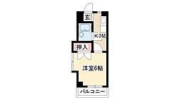 愛知県名古屋市昭和区宮東町の賃貸アパートの間取り