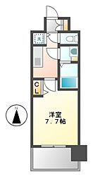 プレサンスジェネ栄[3階]の間取り