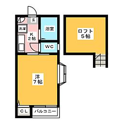 カルア博多[2階]の間取り