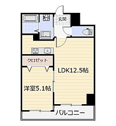 THE SQUARE・SuiteResidence[4階]の間取り