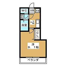 プラティーク四条[4階]の間取り