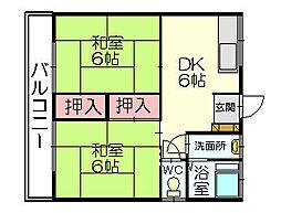 清原コーポ[2階]の間取り