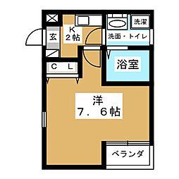 Fortuna志賀本通[3階]の間取り