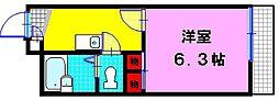 大阪府大東市諸福7丁目の賃貸アパートの間取り