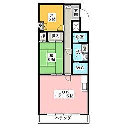 エスポワールフジナリ[4階]の間取り