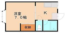 カスタシオン大池[2階]の間取り