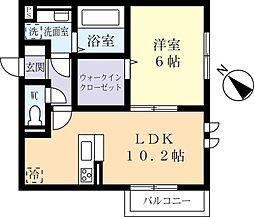 つくばエクスプレス つくば駅 バス17分 さくらの森下車 徒歩5分の賃貸アパート 1階1LDKの間取り