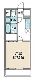 第2岸田マンション[1階]の間取り