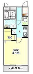 パレット39 B棟[105号室]の間取り