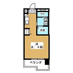 ピーステン名駅南[7階]の間取り