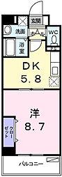 イースト・フィオーレ[2階]の間取り