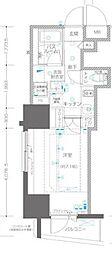 ZOOM川崎EAST 7階1Kの間取り
