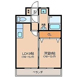 GARAGEIII[3階]の間取り