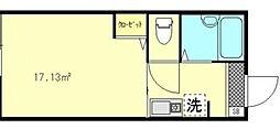 東京都江東区亀戸7丁目の賃貸アパートの間取り