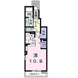 千葉県松戸市五香3丁目の賃貸アパートの間取り