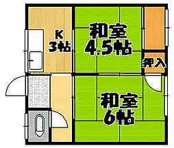 兵庫県川西市久代5丁目の賃貸アパートの間取り