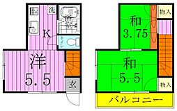 [テラスハウス] 埼玉県三郷市栄1丁目 の賃貸【/】の間取り