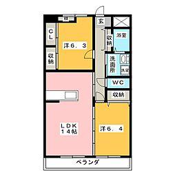 SAIA21[1階]の間取り