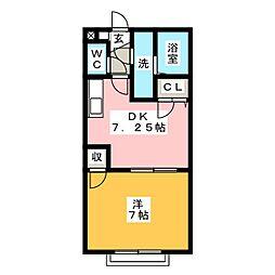アムール薫[1階]の間取り