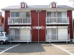 岡山県倉敷市新田の賃貸アパートの外観