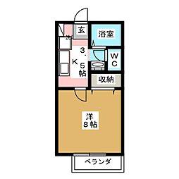 サンガーデンOYAMA[2階]の間取り