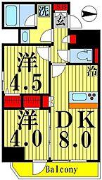 ティモーネグランデ錦糸町 5階2DKの間取り