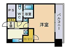 VIP薬院[6階]の間取り